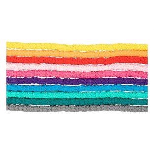 Flache Tonperlen 10 Farben - Ø 6 mm