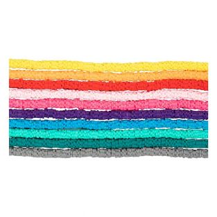 Flat clay beads 10 colors - Ø 6 mm