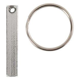 Engraving key ring kit - Silver