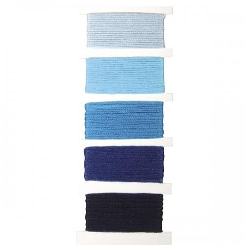 Cotton yarn for friendship bracelet - blue