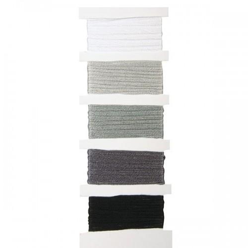 Hilados de algodón - pulseras de la amistad - gris