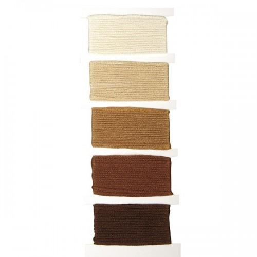 Cotton yarn for friendship bracelet - brown