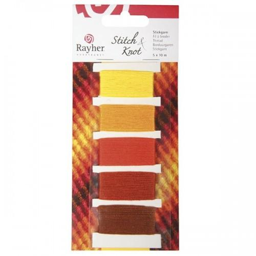 Cotton yarn for friendship bracelet - orange