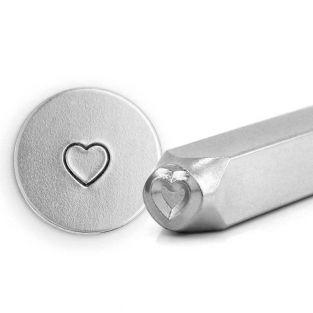 Sello metálico de corazón grabado con...