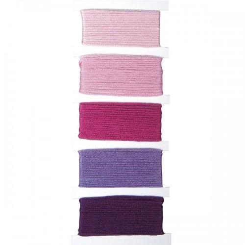 Hilados de algodón - pulseras de la amistad - rosa