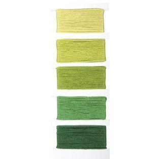 Fil coton vert pour bracelet brésilien