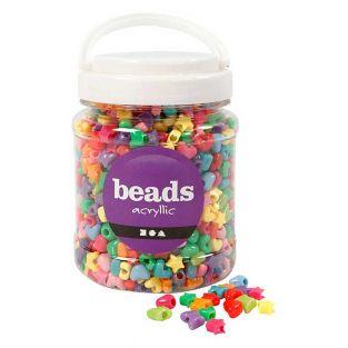 Novelty star beads, 400 g, Ø 10 mm -...