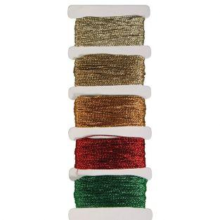Metal wire - gold - 5 colors each 10m