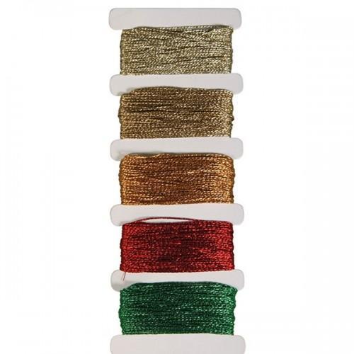 Hilo en metal - oro - 5 colores cada 10m
