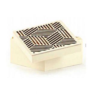 Caja de madera con tapa calada -...