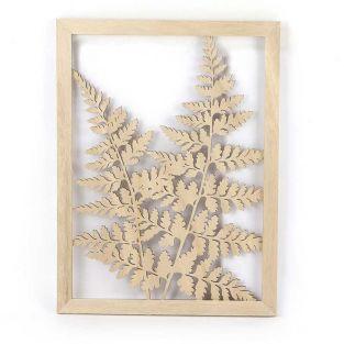 Cadre ajouré en bois Fougère 40 x 30 cm