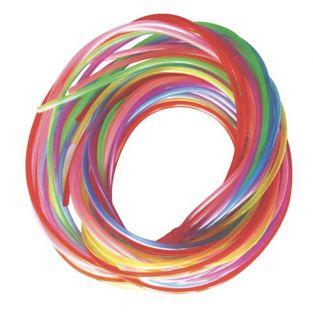 12 farbige scoubidou 80 cm - Perleffekt