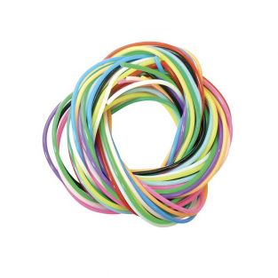 12 colored scoubidous 80 cm