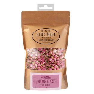 Flores secas, capullos de rosa...