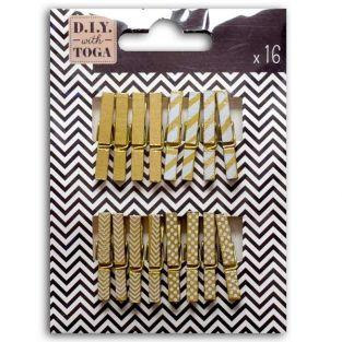 Mini golden clothespins