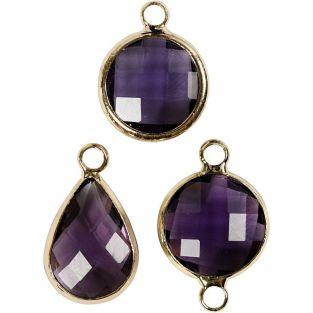 6 pendentifs pour bijoux 15 à 20 cm -...