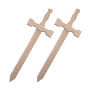 2 épées en bois 39 x 13 cm