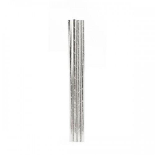 Pajas de plata x 144