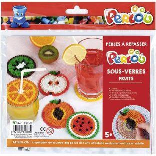 Set ironing beads Coasters - Fruits