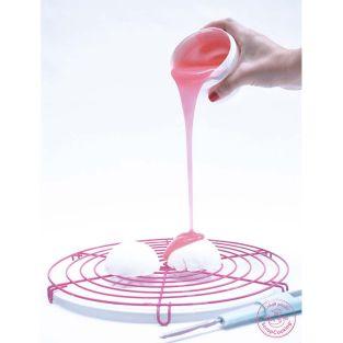 Glaçage goût fruité effet miroir rose...