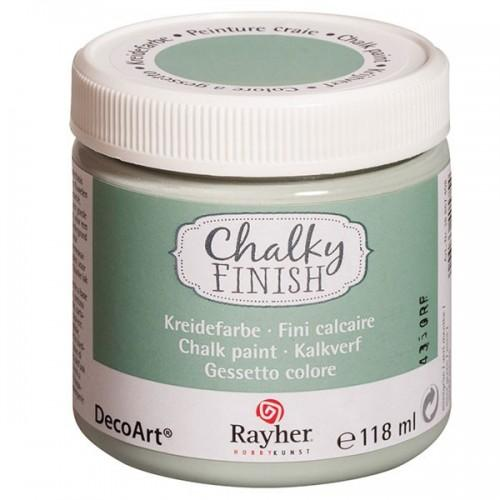 Green paint chalk - Chalky Finish