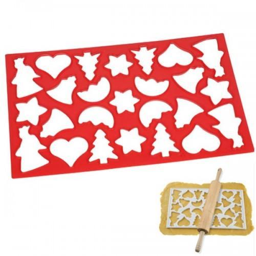 Plaque découpoir 25 biscuits de Noël