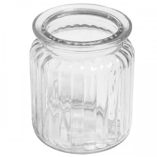Récipient en verre avec rainures 270 ml