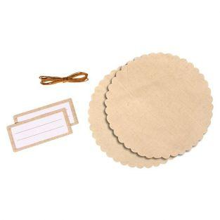 Un kit decorativo para tarros de mermelada - lino