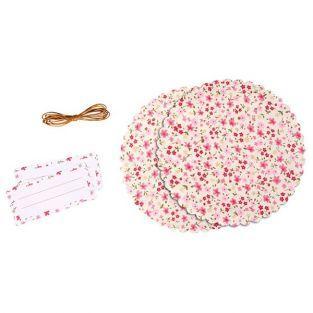 Un kit decorativo para tarros de mermelada - motivos flores