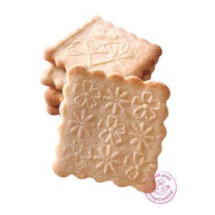 Tampon bois + découpoir pour biscuit...