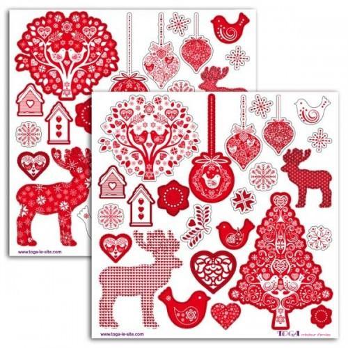 Stickers de Noël scandinave x 48