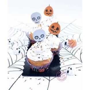 Halloween-Dekorationsset für 24 Cupcakes