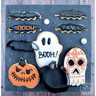 4 cortadores de galletas Halloween
