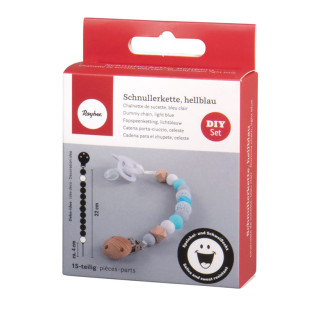 DIY Kit - Wooden pacifier clip with...