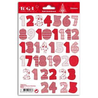 Stickers Noël calendrier de l'Avent - Scandinave