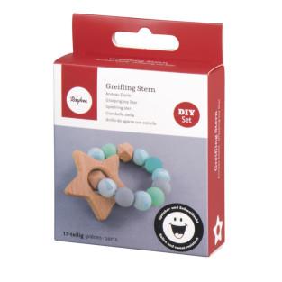 DIY Kit - Mint Green Star Teething Ring