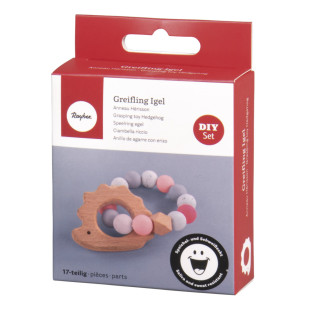 DIY Kit - Pink Hedgehog Teething Ring