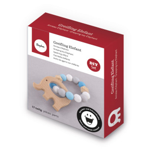 DIY Kit - Blue Elephant Teething Ring