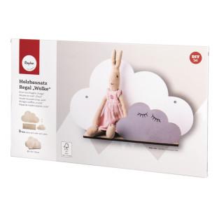 DIY kit - Cloud wooden shelf 35 x 21...