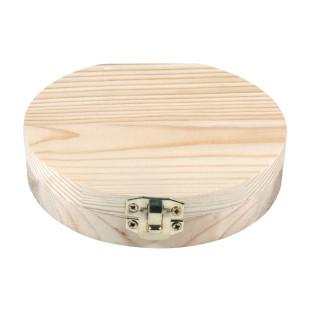 Box for milk teeth in raw wood ø 12 x...