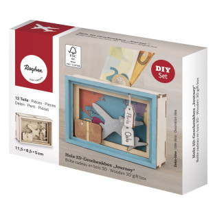 Kit DIY - Urne en bois 3D pour voyage...