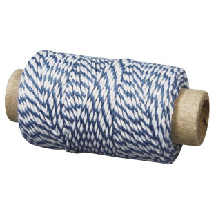 Blue and white baker twine 35 m x ø 1 mm