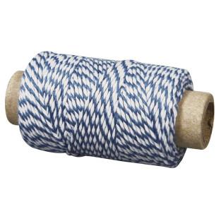 Spago bicolore blu e bianco 35 m x ø...