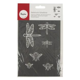 Pochoir de sérigraphie Insectes A5
