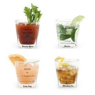 Verres à cocktails x 4