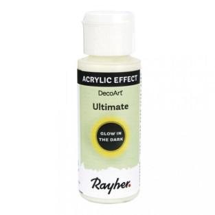 Fluoreszierende Acrylfarbe 59 ml - gelb