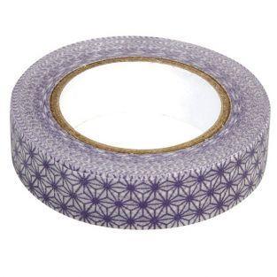 Washi Tape étoiles blanc-violet