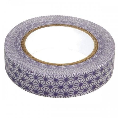 Masking Tape stars - white / purple