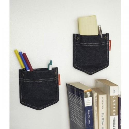 Wall pockets jean x 2