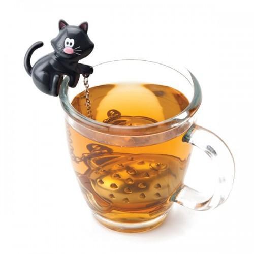 Boule à thé chat-poisson
